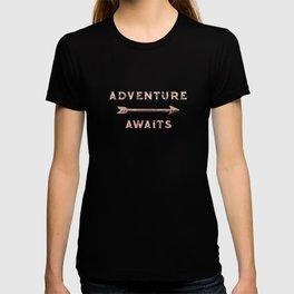 Adventure Awaits Rose Gold T-shirt