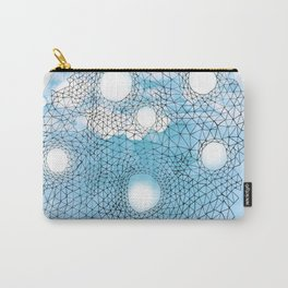 Abstract Web on Blue Watercolor Carry-All Pouch