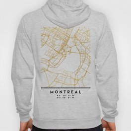 MONTREAL CANADA CITY STREET MAP ART Hoody