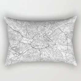 Manchester Map Line Rectangular Pillow