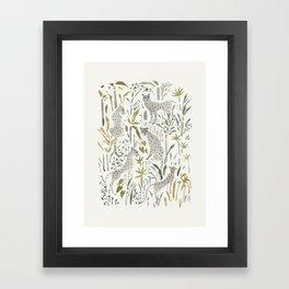 Grey Cheetahs Framed Art Print