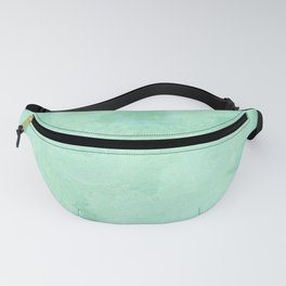 Blue Gray Cotton Fluff Fanny Pack