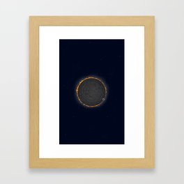Low Poly - Solar Eclipse Framed Art Print
