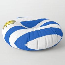 flag of Uruguay-Uruguyan,montevideo,spanish,america,latine,Salto,south america,paysandu,costa,sun,be Floor Pillow