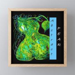Abstract Pear Framed Mini Art Print