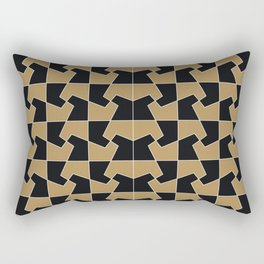 Abstract hexagon periodic tessellation pattern gamboge black Rectangular Pillow