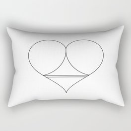 Butt Heart Rectangular Pillow