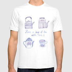 Decorative teapots White Mens Fitted Tee MEDIUM