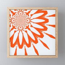 The Modern Flower White & Orange Framed Mini Art Print