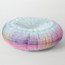 Colourful Mandala Boho Pattern Floor Pillow