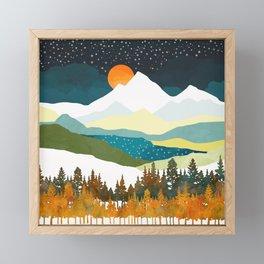 Winters Night Framed Mini Art Print