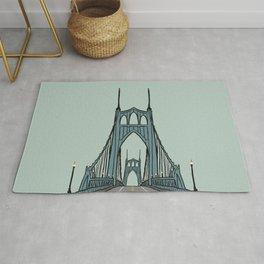 St. Johns Bridge Portland Oregon Rug