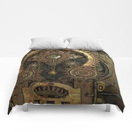 Rusty Vintage Steampunk Gears Comforters