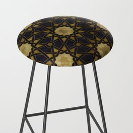 Islamic decorative pattern with golden artistic texture Bar Stool
