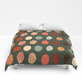 Hand drawn pastel dots pattern Comforters