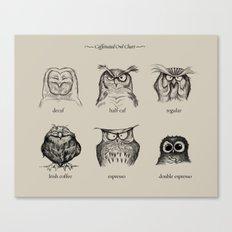 Caffeinated Owls Canvas Print