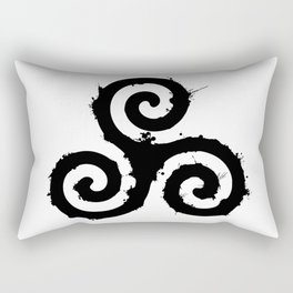 Teen Wolf - Triskelion 1 Black (Splatter) Rectangular Pillow