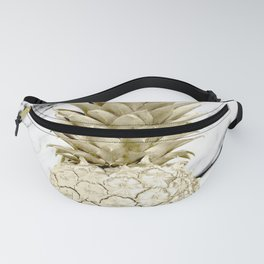 Rose Gold Pineapple Surprise on Simply Marble Fanny Pack