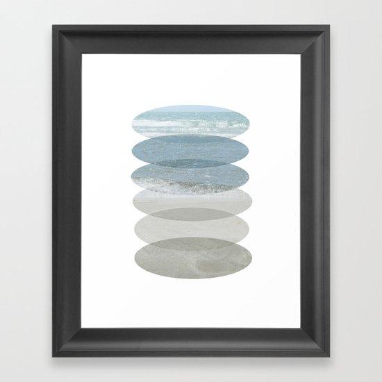 Beach Fragments Framed Art Print
