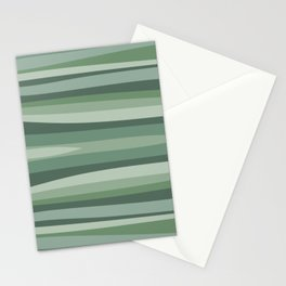 Shades of green abstract pattern Stationery Cards