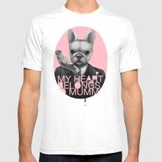 My heart belongs to Mummy Mens Fitted Tee White MEDIUM