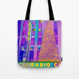 Radio City Music Hall with Holiday Tree, New York City, New York Tote Bag