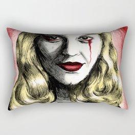 Sylvia Plath_Blood Red Rectangular Pillow