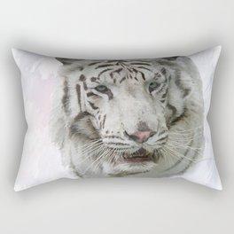 Digital Painting of White Tiger Rectangular Pillow