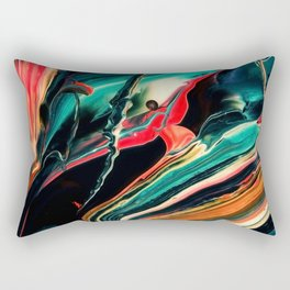 ABSTRACT COLORFUL PAINTING II-A Rectangular Pillow