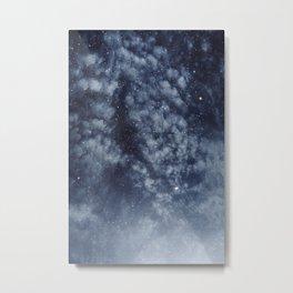 Blue veiled moon II Metal Print