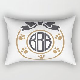 dog monogram Rectangular Pillow
