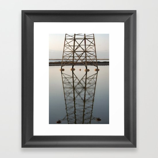 Electricity and Water Framed Art Print