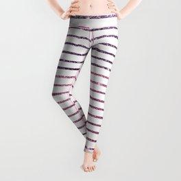 Modern geometrical purple pink glitter Leggings