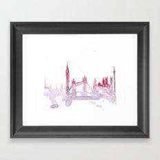 Watercolor landscape illustration_London Framed Art Print