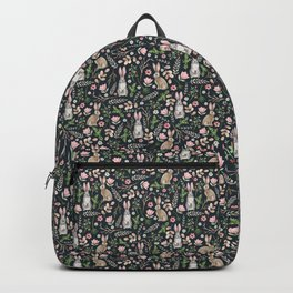 Cute rabbits (dark blue) Backpack