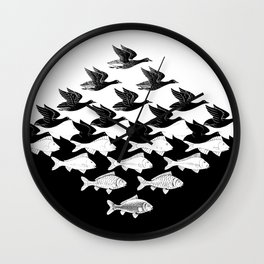Escher - Sky and Water Wall Clock