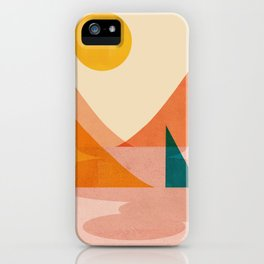 Abstraction_Lake_Sunset iPhone Case
