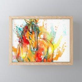 The Spirit of a Horse Framed Mini Art Print