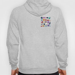 Hand drawn creatures in graffiti style Hoody