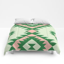 Navajo motif with watermelon pallet Comforters