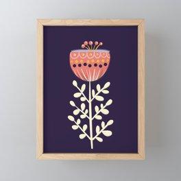 single flower no1 Framed Mini Art Print