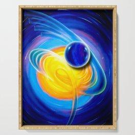 Abstract perfection - Circle Serving Tray