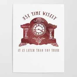 Timewise Vintage Clock Poster