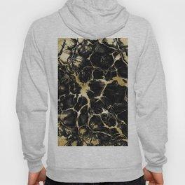 Undefined Gold Black Abstract #1 #decor #art #society6 Hoody