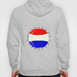 Red White And Blue Bottle Cap Hoody
