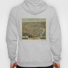 Vintage Map of Frankfort Kentucky Hoody