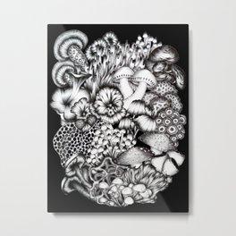 Midnight Mushrooms Metal Print