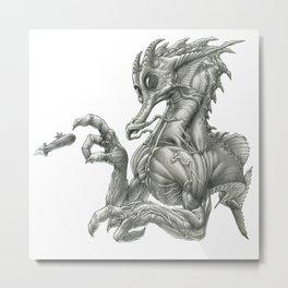 The Pacific Sawback Seadragon Metal Print