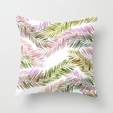 tropical florest Throw Pillow