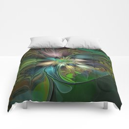 Colorful Abstract Fractal Art Comforters